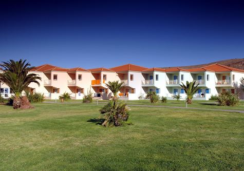 A view of the accommodation at Neilson Aeolian Beachclub resort in Lesvos, Greece