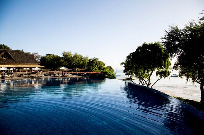 The luxury pool at Club Med Albion Mauritius resort