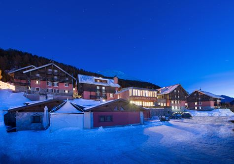 The Neilson Alpen Village resort at night