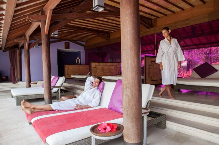 Two people enjoying a spa at Club Med Bali