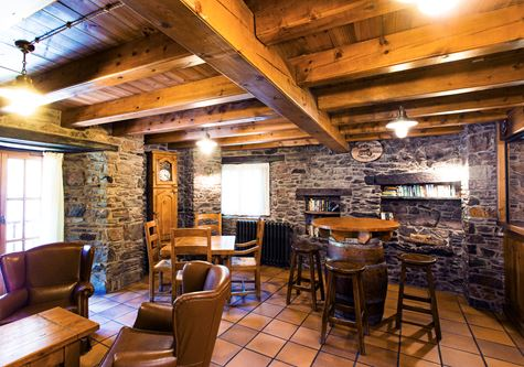 The rustic bar at the Neilson Chalet Casale