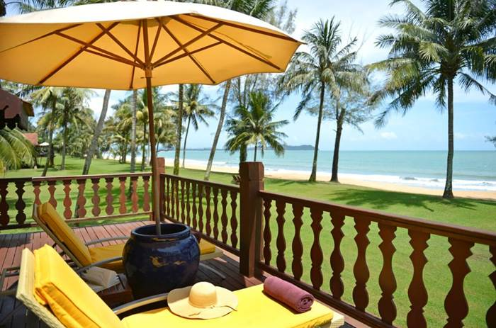 A view from the deck chairs at the Club Med Cherating Beach resort in Malaysia