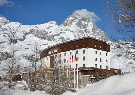 The exterior of the Club Med Cervinia in the Italian Alps