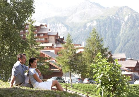 The Club Med Peisey Vallandry resort in France in summer