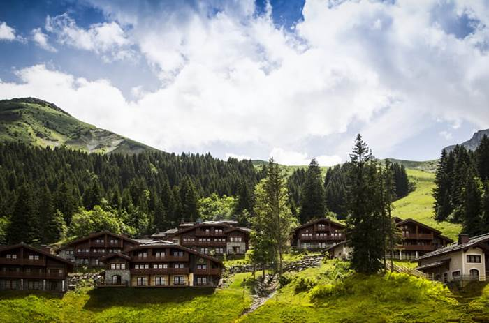 The Club Med Valmorel Chalets valley during summer