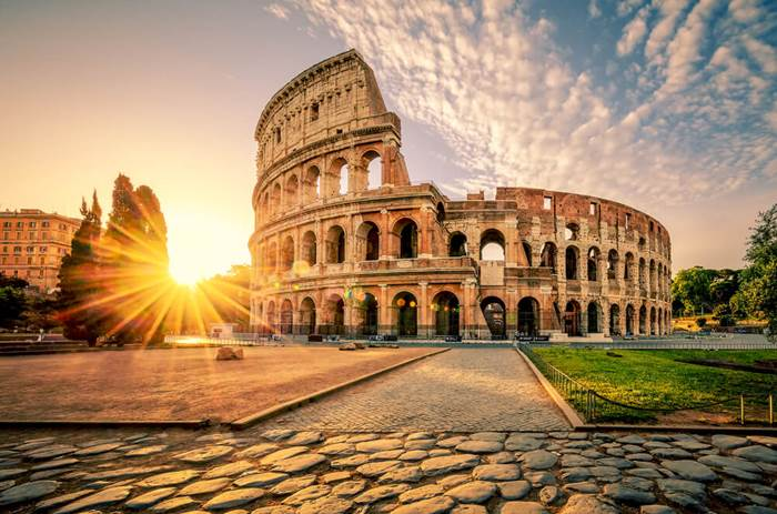 Tauck Classic Italy - Colosseum in Rome at sunrise, Italy, Europe