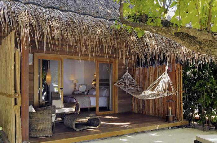 Beach villa at constance moofushi maldives resort