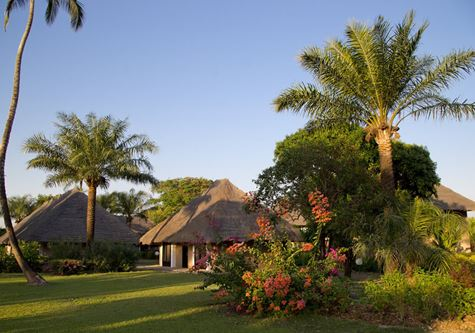 The villas amongst the gardens at Club Med Cap Skirring