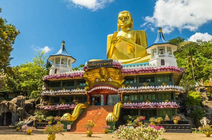 Dambulla in Sri Lanka visited by the Cox & Kings Splendours of Sri Lanka solo tour