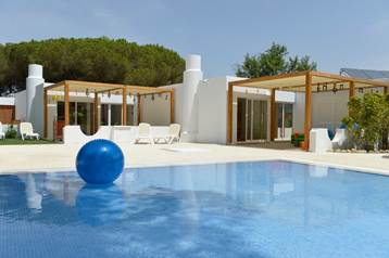 A view of the pool with a ball at Club Med Da Balaia in Portugal