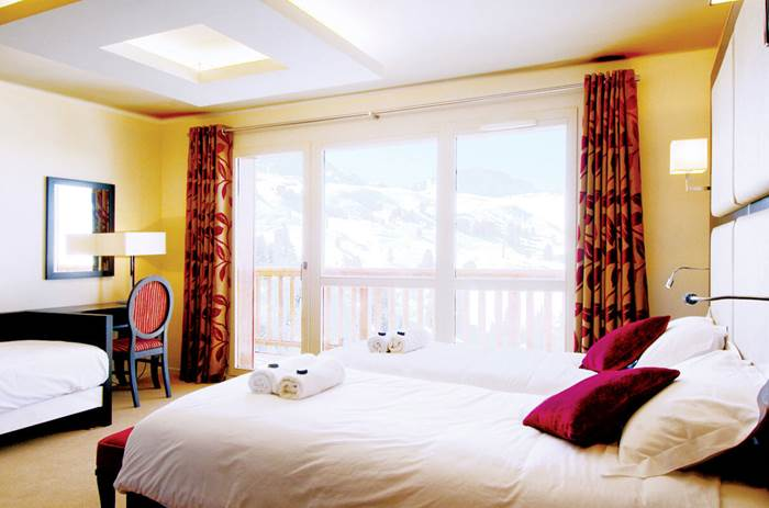 Accommodation at the Esprit Ski Chalet Hotel Deux Domaines