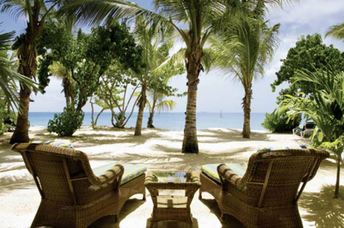 Sunloungers at Galley bay resort Kuoni in Antigua