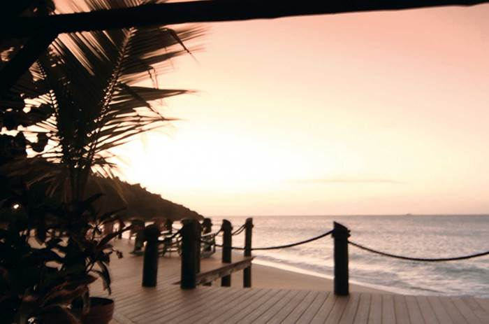 Sunset over Galley bay resort Kuoni in Antigua