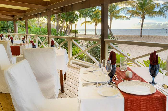 Dining on the beach at Kuoni Galley bay resort and spa  in Antigua