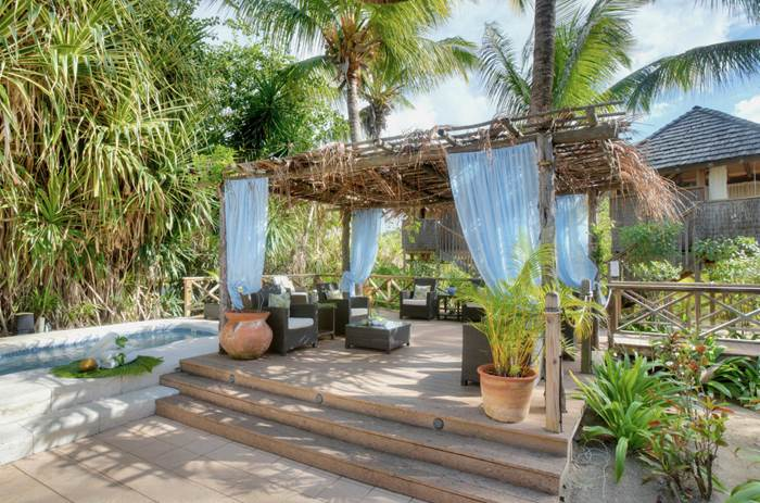 Outdoor lounge area at Kuoni Galley bay resort and spa  in Antigua