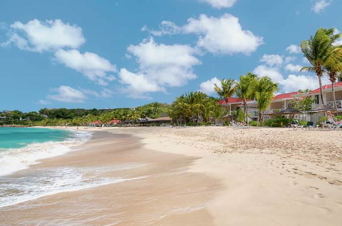 The beach at Kuoni Galley bay resort and spa  in Antigua