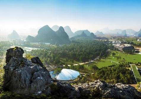 A birdseye view of Club Med Guilin in China