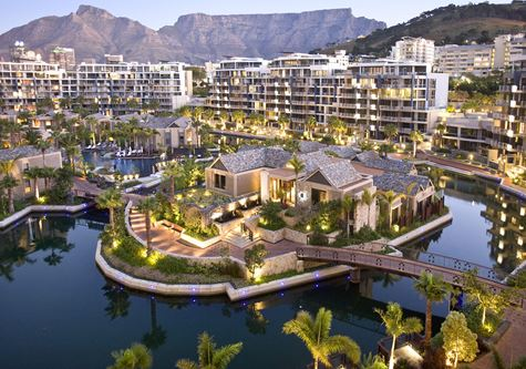 A birds eye view of the One&Only Cape Town resort