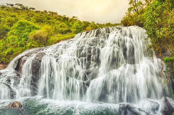 Horton Plains waterfalls on the Cox & Kings Splendours of Sri Lanka tour