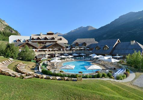 A view of the resort at Club Med Pragelato Vialattea in Summer