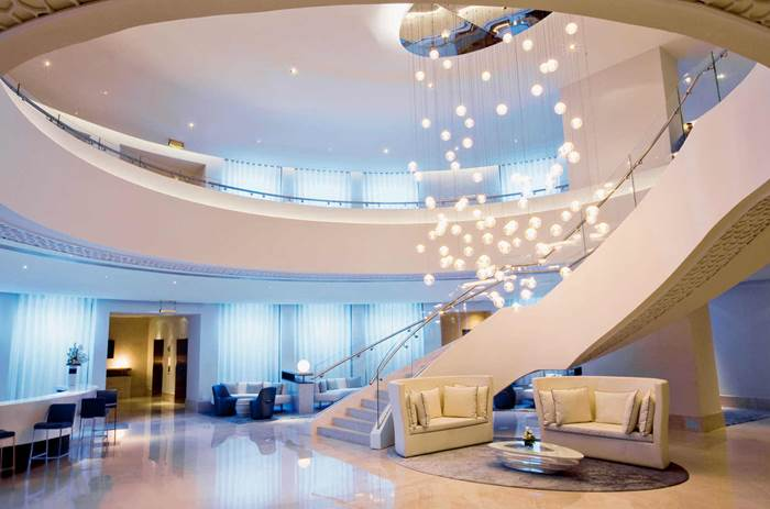 A floating stairace at Kuoni Ocean view Dubai
