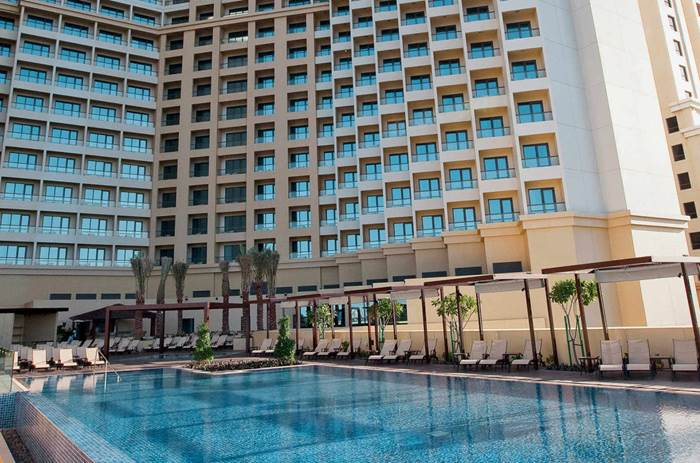 The outdoor pool at Kuoni Ocean view Dubai