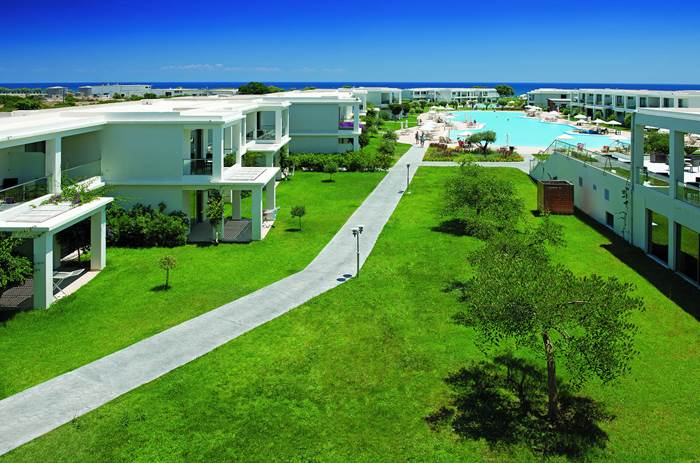Exterior view of grounds at Mark Warner Levante Beach Club in Rhodes