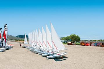 Sailing boats at Mark Warner Levante Beach Club in Rhodes