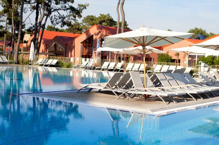 Sun Loungers by the pool at Club Med La Palmyre Atlantique