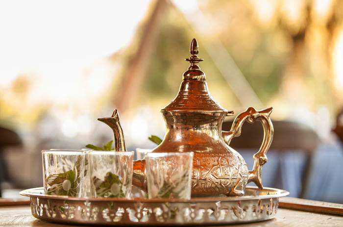 Tea being served at Club Med Marrakech resort in Morrocco