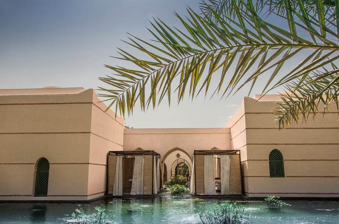 Luxury sun loungers at Club Med Marrakech resort in Morrocco