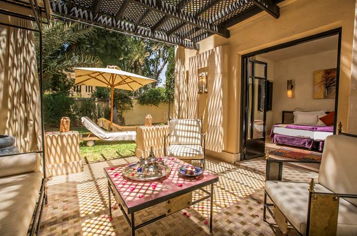 A private garden villa at Club Med Marrakech resort in Morrocco