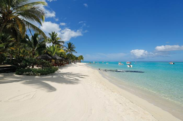 A beach at Beachcomber Paradis Hotel & Golf Club in Mauritius