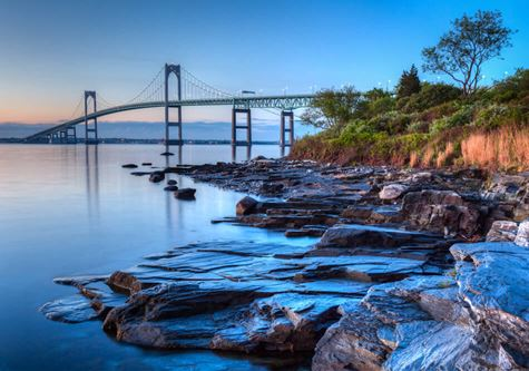 Tauck Cape Cod & The Islands - Newport Bridge Sunrise  This is a long exposure HDR of the illuminated Newport bridge from Taylor's Point