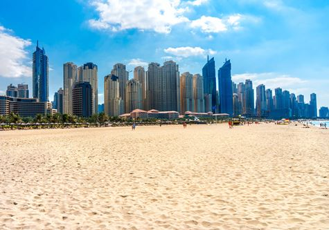 The beach at Kuoni Ocean view Dubai