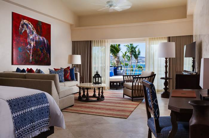 Inside the accommodation at the the One and Only Palmilla Hotel