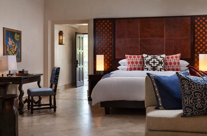 A double bedroom at the the One and Only Palmilla Hotel