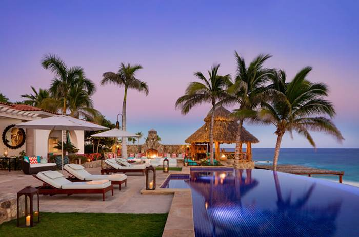 The the One and Only Palmilla Hotel resort at dusk