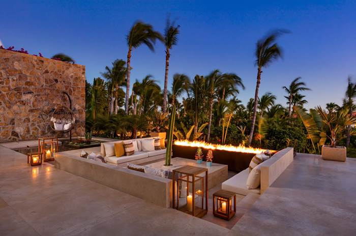 The One and Only Palmilla Hotel with a firepit