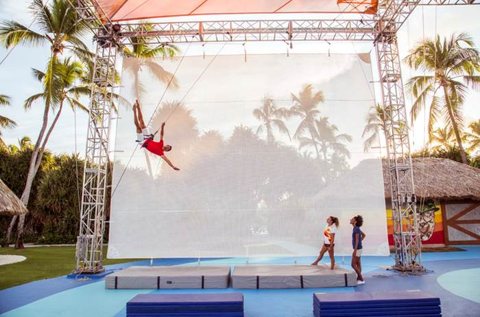 A circus lesson at Club Med Punta Cana in the Dominican Republic