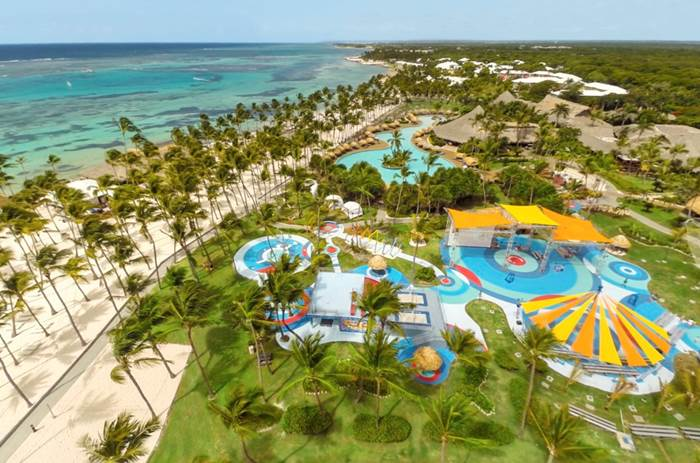 A view of the Club Med Punta Cana resort from above.