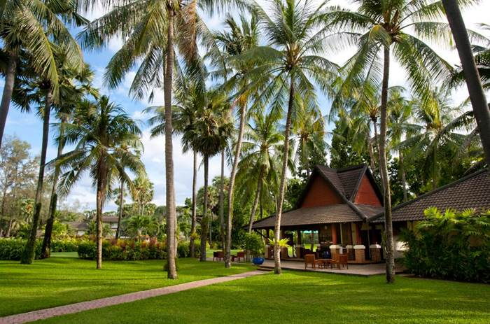 The gardens at Club Med Phuket resort in Thailand