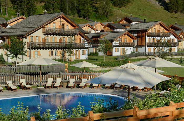 The resort at Club Med Pragelato Vialattea in summer