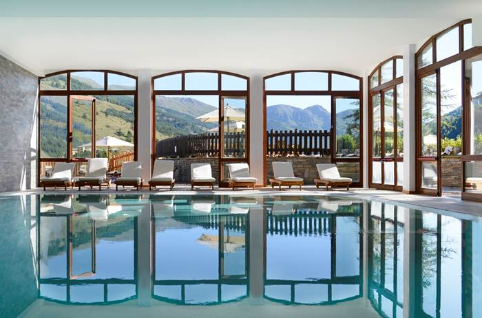 The indoor pool at Club Med Pragelato Vialattea Summer
