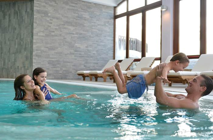 the indoor swimming pool at Club Med Pragelato Vialattea
