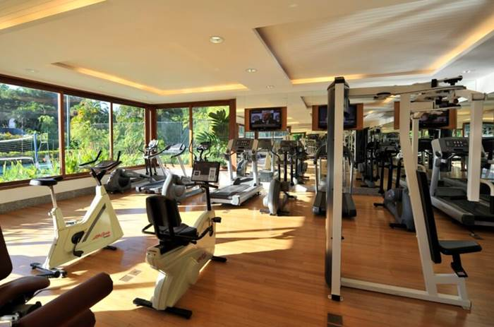 The gym at the Club Med Rio Das Pedras in Brazil