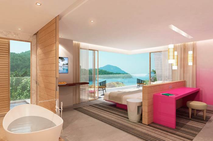 A luxury suite at the Club Med Rio Das Pedras in Brazil