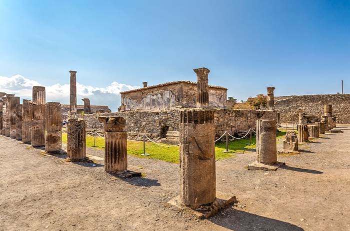Tauck Classic Italy - Ruins of Pompeii, Italy. Pompeii is an ancient Roman city died from the eruption of Mount Vesuvius in 79 AD