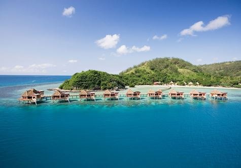 Overwater villas at Likillulu resort in Fiji