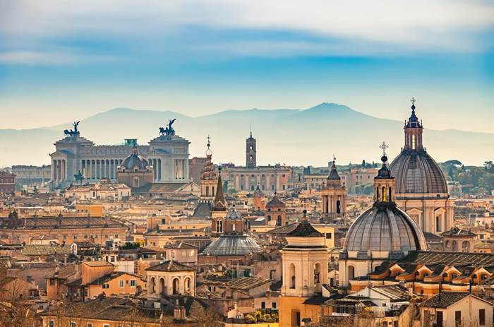 Tauck Classic Italy - View of Rome from Castel Sant'Angelo